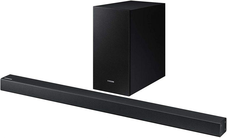 Samsung 2.1 HW-R450 budget soundbar for tv shows