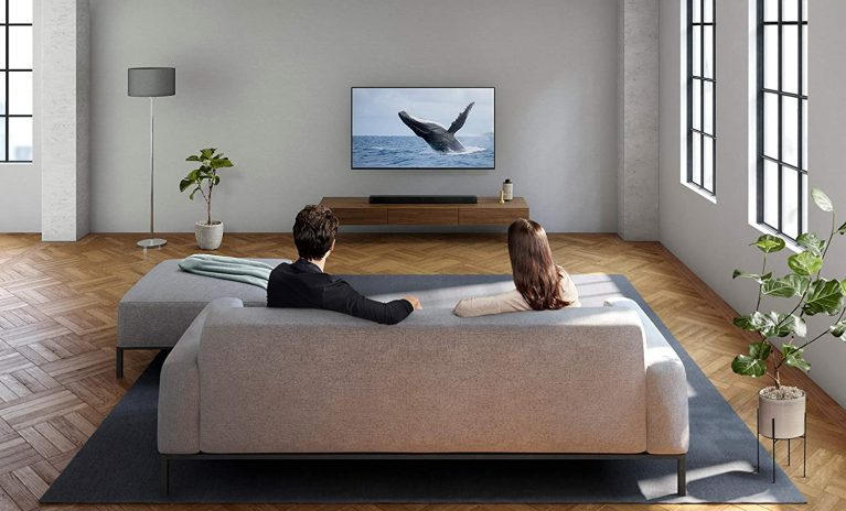 Sony HTX8500 used by a couple watching tv