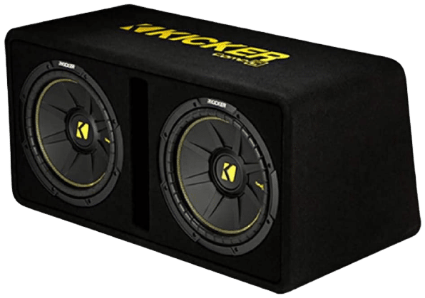 Kicker Dual 10-Inch 1200 Watt 2 Ohm Vented Loaded Subwoofer Enclosure