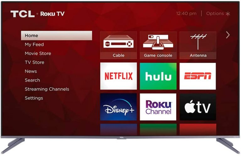TCL 50S535 with Netlflix, Hulu, Disney, Roku Channel, and other channels