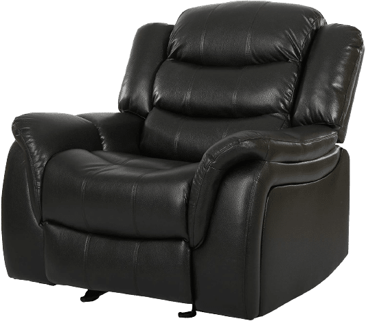 Great Deal Furniture Merit Black Leather Recliner