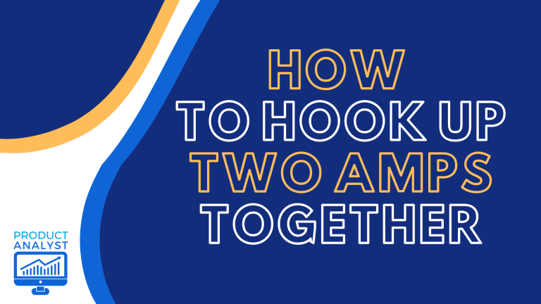 how to hook up two amps together