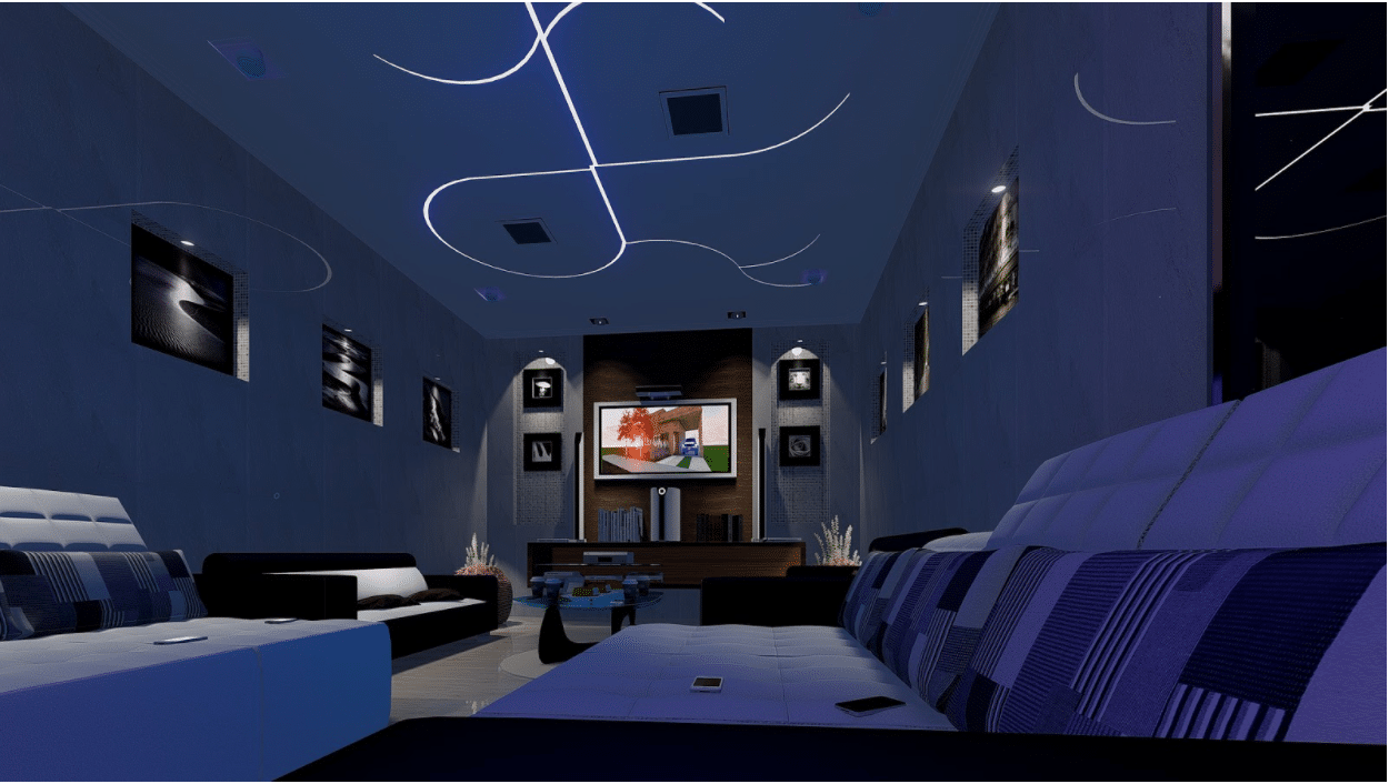 home theatre layout