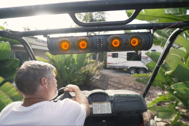ECOXGEAR SoundExtreme SE26 on a golf cart