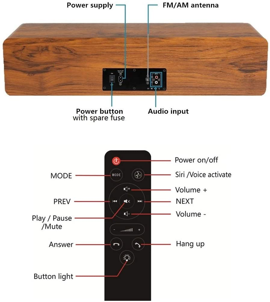 KEiiD Bluetooth Stereo System and remote control