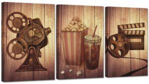 ZingArts Vintage Filmmaking Concept Scene Wall