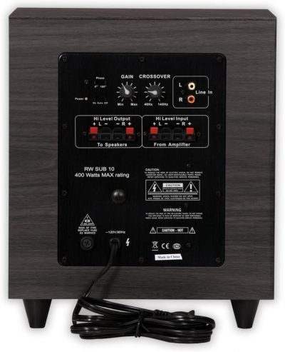 Acoustic Audio PSW-10 back panel