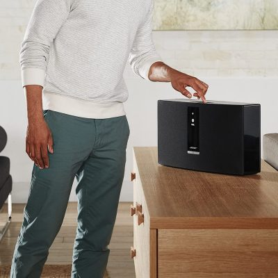 Bose SoundTouch 30 placed above a drawer