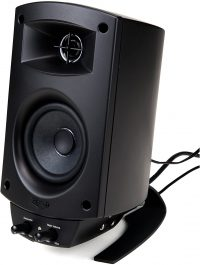 A speaker from the Klipsch ProMedia 2.1 Computer Speaker System