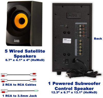 Acoustic Audio AA5170 Home Theater 5.1 - back