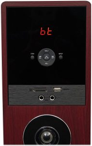 Controls of Rockville TM80C Cherry Powered Home Theater Tower Speaker