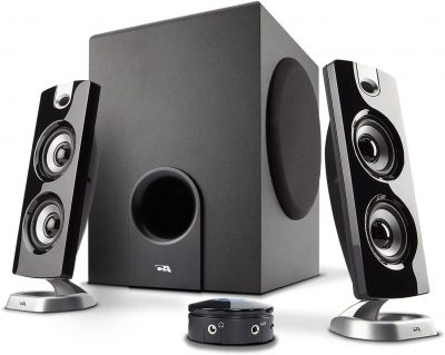 Cyber Acoustics CA-3602FFP 2.1 Speaker Sound System with Subwoofer and Control Pod