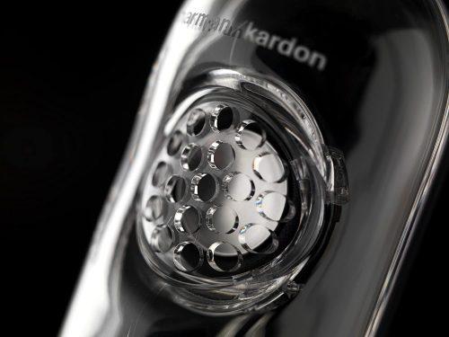 Close up of the Harman Kardon SoundSticks III 2.1 Speaker System