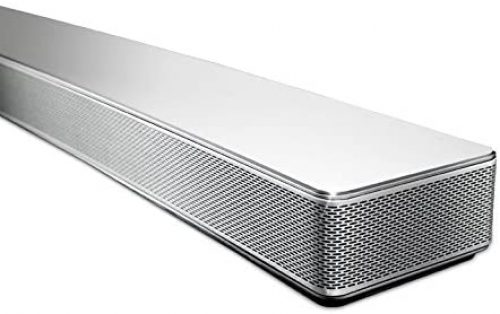 LG Electronics LAS855M Curved Sound Bar Closeup shot