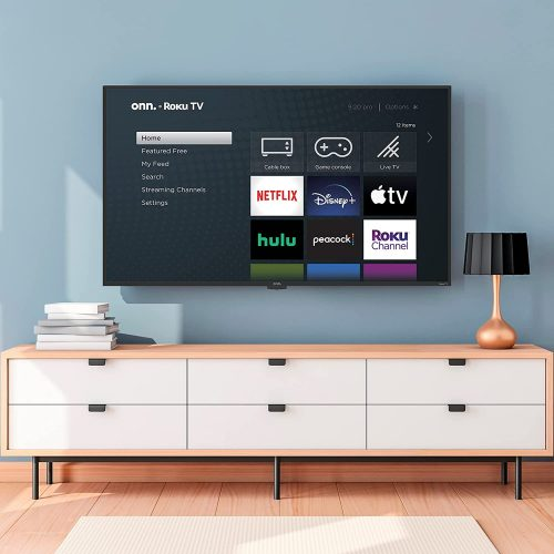 Onn tv mounted on wall