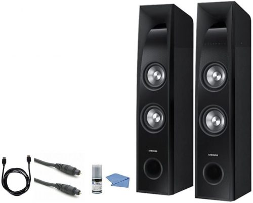 SAMSUNG TW-J5500-2.2 Channel 350 Watt Wired Audio Bluetooth Sound Tower Bundle - Connectivity