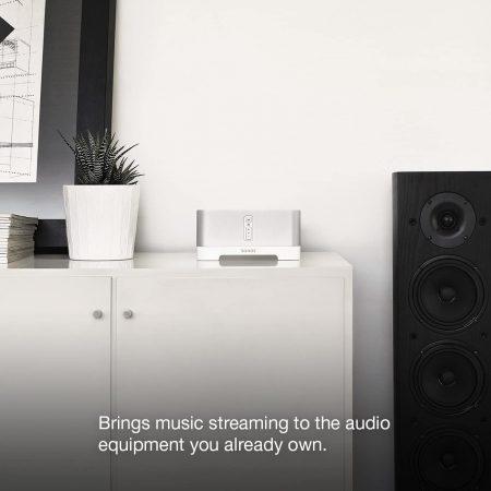 Sonos Connect beside a speaker