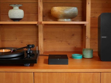 Sonos Port beside a record player