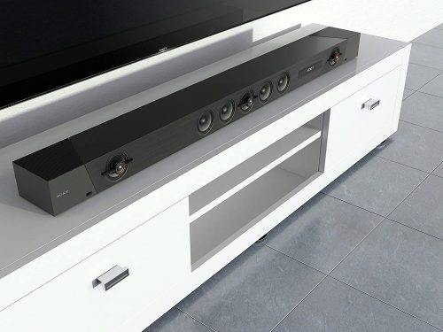 Sony HT-ST5000 on TV stand