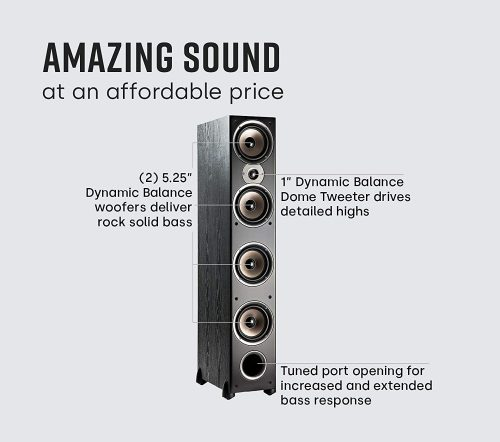 Sound Description of Polk Audio Monitor 70 Series II Tower Speaker