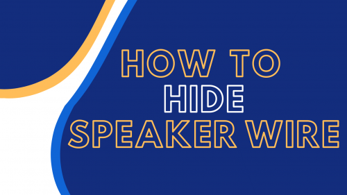 how to hide speaker wire