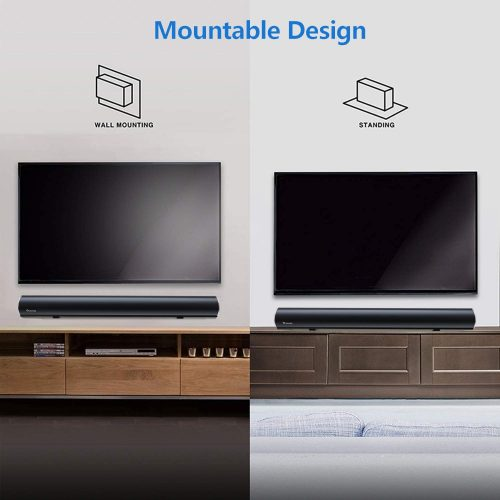 WoHome Sound Bar with Built-in Subwoofer Mountable Design