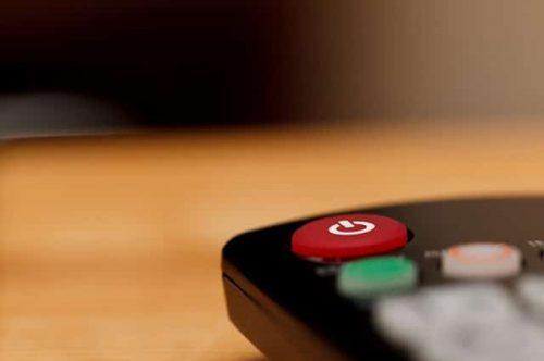 close-up of a remote control