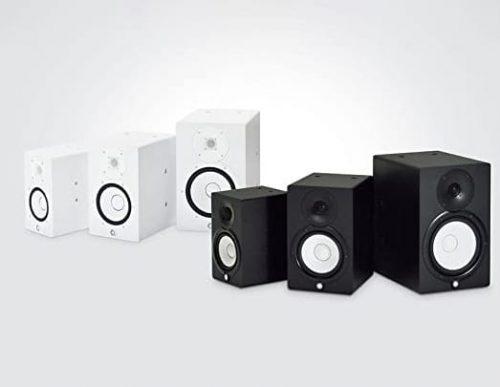 White and black YAMAHA HS8 Studio Monitor