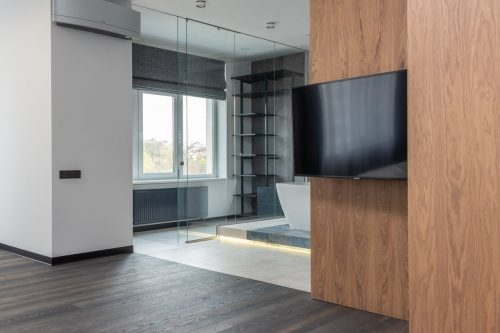 high mounted tv