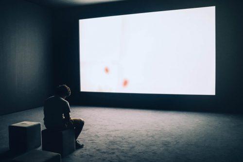 home theatre minimalist black