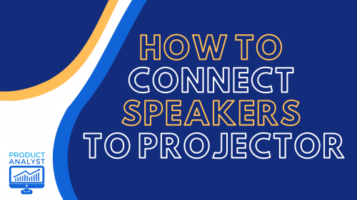 how to connect speakers to projector