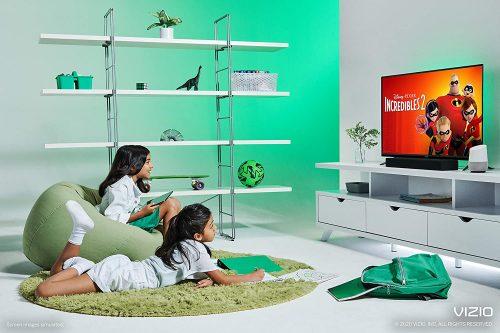 kids watching movie with VIZIO D24f4