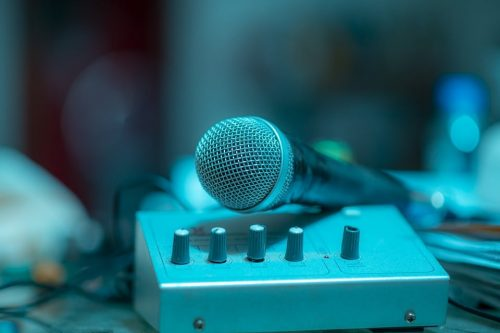 microphone and mixer