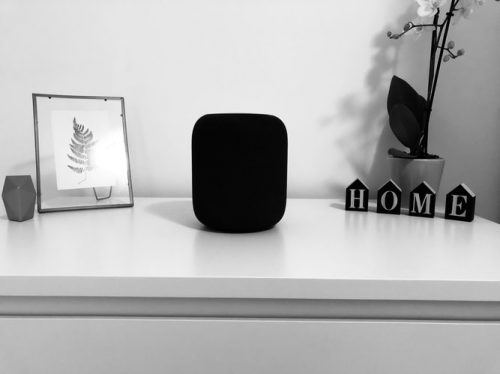 small speaker in a table