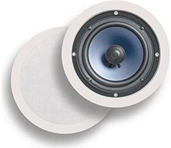 3 Polk Audio RC80i 2-way Premium In-Ceiling 8 Round Speakers (White, Paintable Grille) & Audio RC60i 2-way Premium In-Ceiling 6.5 Round