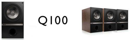 KEF Q100 in American Walnut and Black