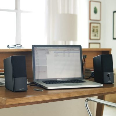 Laptop connected to the Bose Companion 2 Series III