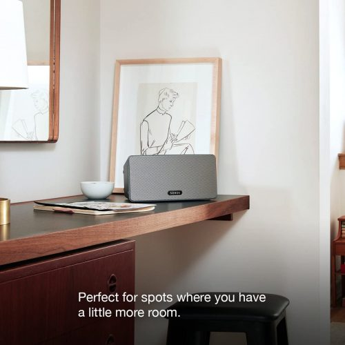 Sonos Play 3 placed above a table
