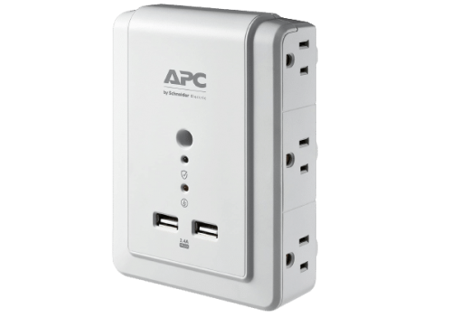 APC Wall Outlet Surge Protector no background