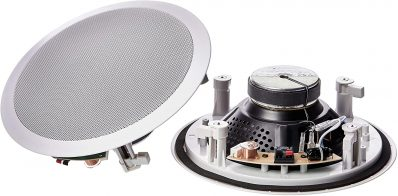 Amazon Basics 8 inch round in ceiling in wall speakers