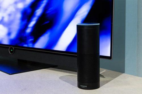 Amazon speaker in a TV