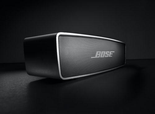 Bose in a black setting