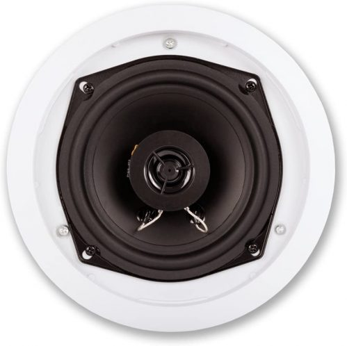 Close-up of ceiling speakers