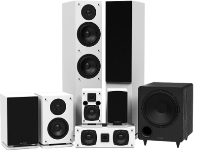 Fluance Elite Series Surround Sound Home Theater 7.1 Channel Speaker System no background