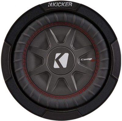 Kicker 8 Inch Dual 600 Watt CompRT 2 Ohm Shallow Slim Car Subwoofer