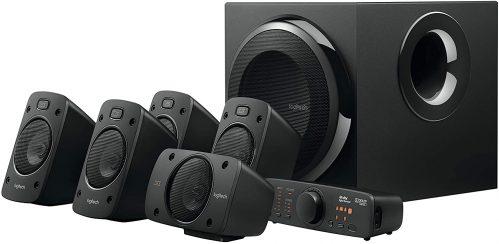 Logitech 5.1 Surround Sound Speaker System Set Side View