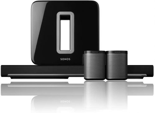 Sonos 5.1 Home Theater System with reflection