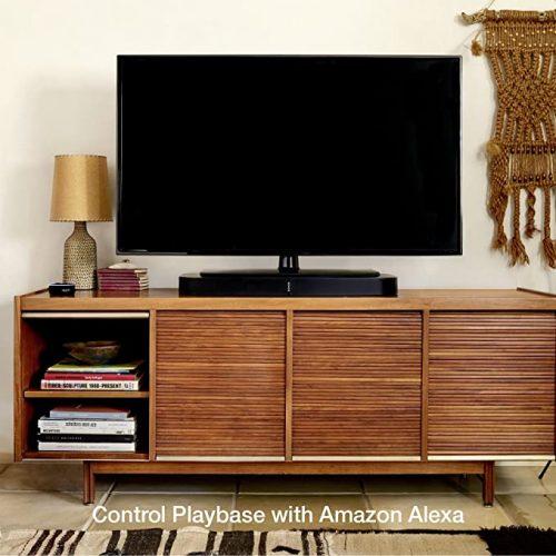 Sonos Playbase beneath a TV