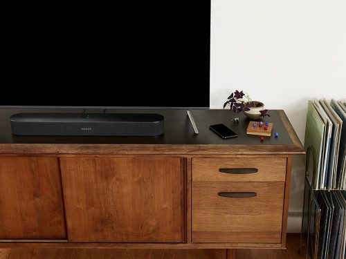 Sonos beam in a TV set