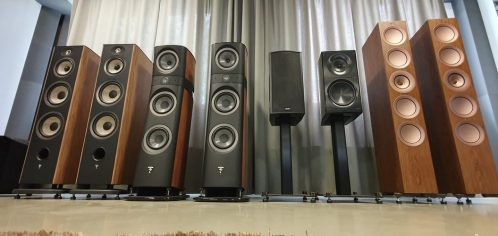 Speakers in a row